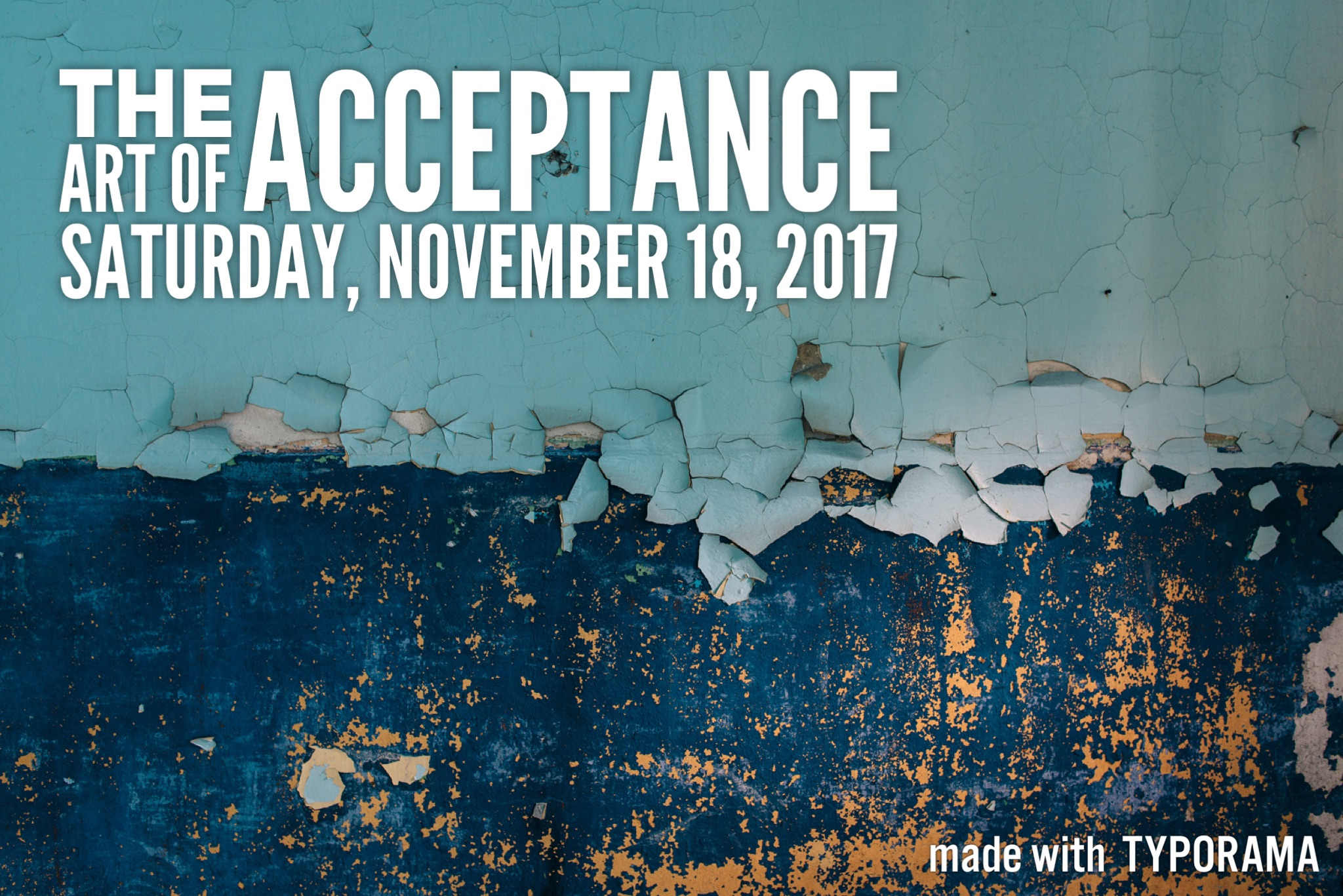 POSTPONED – The Art of Acceptance