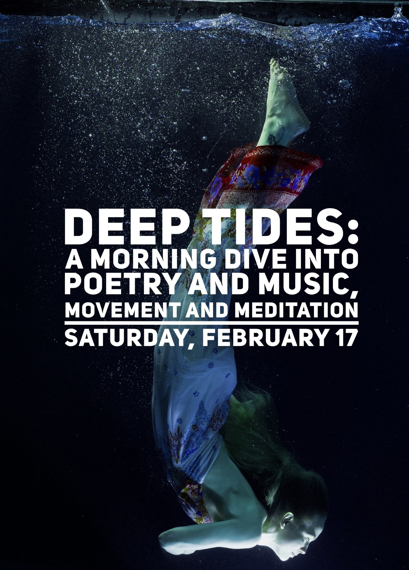 Deep Tides: a morning dive into poetry and music, movement and meditation